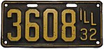 Illinois - 1932 license plate.jpg