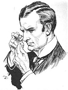 Illustration by H.M. Brock (1875-1960) for John Thorndyke's cases (1908-9) by R. Austin Freeman (1862-1943)-p286 Superintendant Miller Rises to the Occasion 07.jpg