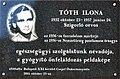Ilona Tóth plaque Bp21.jpg