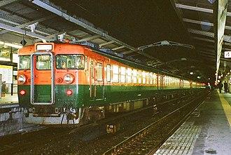 Moonlight Nagara - Image: Image JNR 165 Ogaki Night train