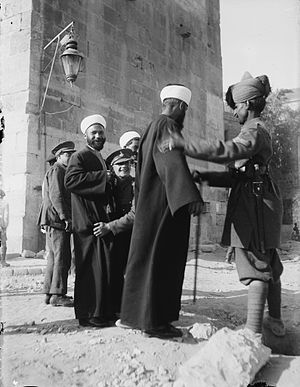 1920 Nebi Musa riots - British security forces searching Arab civilians, April 1920