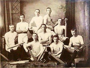 Indian club - Image: Indian club swinging team, St Paul's Young Men's Club, Ipswich, 1890s