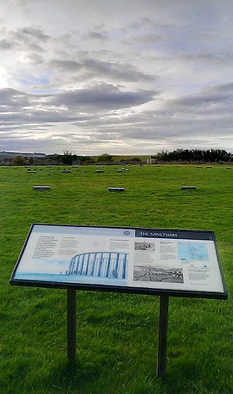 The Sanctuary - Image: Information Board at The Sanctuary