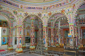 Kothara, Kutch - Image: Inside the Jain Temple Colourful and artistic