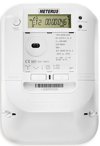 Smart meter used by EVB Energie AG. Besides Au...