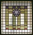 Interieur, overzicht van glas in loodraam in trappenhuis - Steenwijk - 20389212 - RCE.jpg