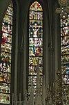 interieur koor, overzicht glas in loodramen - lith - 20334111 - rce