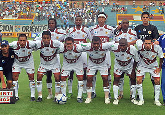 Ayacucho FC - Inti Gas Deportes, 2009 main team at San Martín de Porres Stadium, before playing against Sporting Cristal.