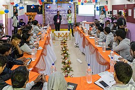 Introducing Wikipedia to New Readers by Satdeep Gill-Wikicamp Nepal 2018-Day 03-5223.jpg