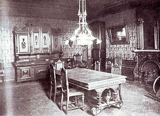 Ipatiev House - Dining room, seen in the picture is the door to the grand duchesses' room in Ipatiev House (1918)