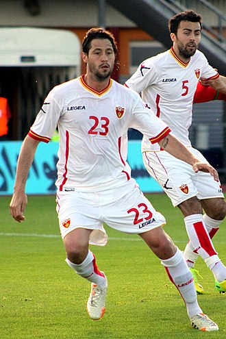Marko Baša - Marko Baša (5) playing for Montenegro in a friendly match against Iran.