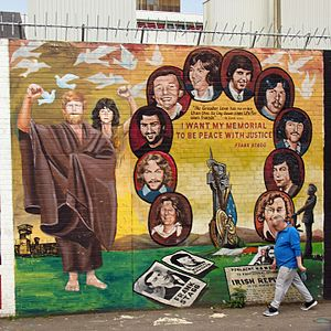 1981 Irish hunger strike - A Belfast mural of the hunger strikers.