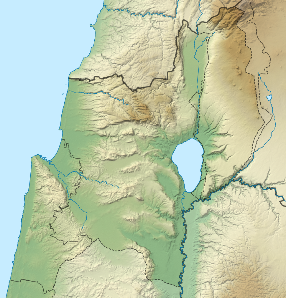 Israel North relief location map
