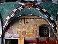 Issogne Castello d'Issogne Innenhof Fresken 06.jpg