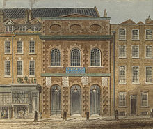 The Queen's Theatre in the Haymarket in London by William Capon (Source: Wikimedia)