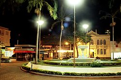 Largo dos Amores square at night
