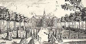 Jægerspris Castle - Jægerspris Castle as it appeared in 1746, contemporary tusch drawing