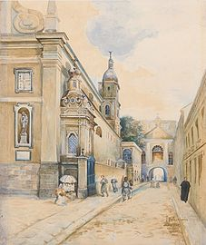 Józef Bałzukiewicz Gates of Dawn Street in Vilnius.jpg