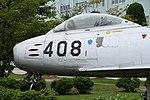 JASDF F-86F(52-7408) forward fuselage section left rear view at Komatsu Air Base September 17, 2018.jpg