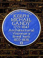 JOSEPH MICHAEL GANDY 1771-1843 Architectural Visionary lived here 1833-1838.jpg