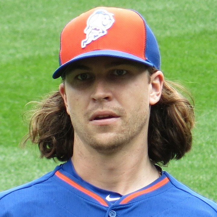 Jacob deGrom on July 31, 2016 (cropped 2)