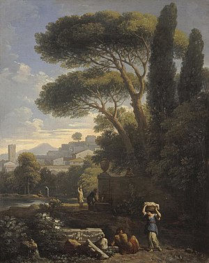 Jan Frans van Bloemen - Landscape with a Fountain