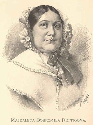 Magdalena Dobromila Rettigová - Portrait of Magdalena Dobromila Rettigová by Jan Vilímek