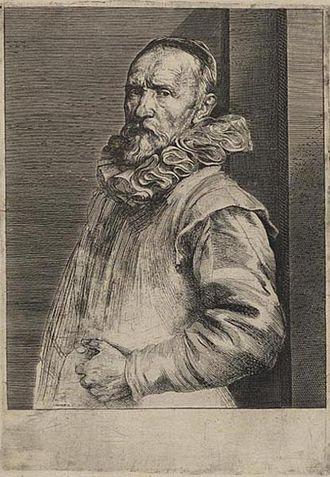 Jan de Wael I - Portrait of Jan de Wael after painting by Anthony van Dyck.