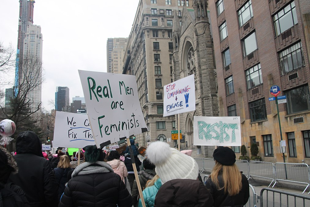 January 2019 Women's Alliance march in NYC (46806303541).jpg