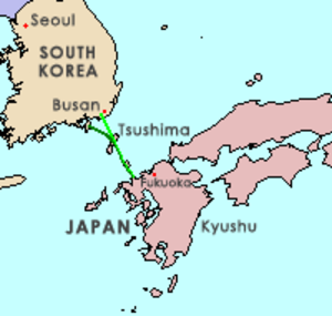 Japan–Korea Undersea Tunnel - Image: Japan Korea tunnel (English)