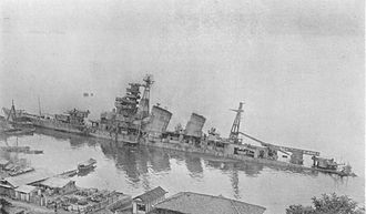 Attacks on Kure and the Inland Sea (July 1945) - Image: Japanese cruiser Aoba 1946