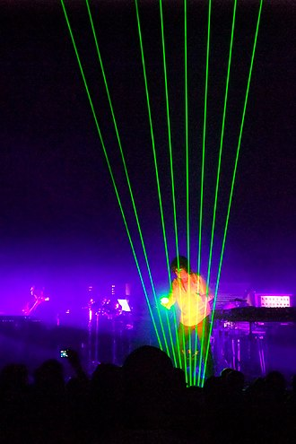 Jean-Michel Jarre - Jarre playing the laser harp in Helsinki