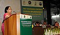 "Jayanthi Natarajan addressing at the inauguration of ""A workshop to review Implementation of the Global Tiger Recovery Program"", in New Delhi on May 15, 2012.jpg"