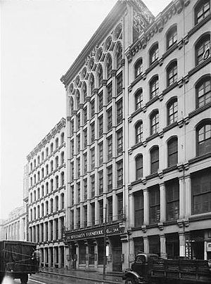 William L. Johnston - Jayne Building, 242-44 Chestnut Sts., Philadelphia, PA (1849-50, demolished 1957).