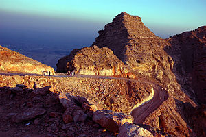 English: Jebel Hafeet mountain in Al Ain, Unit...