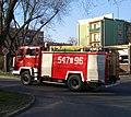 Jeden z wozów strażackich Państwwowej Straży Pożarnej w Tomaszowie Mazowieckim.jpg