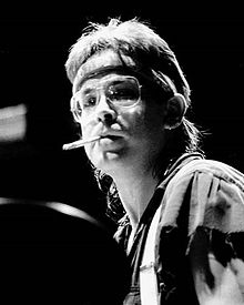Jeff Porcaro on the drums on the Toto Fahrenheit World Tour at Blaisdell Arena in Honolulu, Hawaii on November 10, 1986