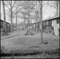 Jerome Relocation Center, Denson, Arkansas. A street scene on Block 7 on a November afternoon. - NARA - 538834.tif