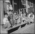 Jerome Relocation Center, Dermott, Arkansas. Young children at Jerome Relocation Center. - NARA - 539501.jpg