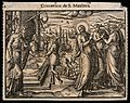 Jesus calls Matthew from among the tax officials. Woodcut, 1 Wellcome V0034940.jpg
