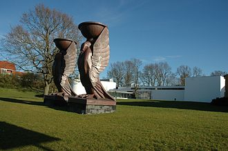 J.F. Willumsens Museum - Raven sculpture from Ulvedals Theatre in Dyrehaven
