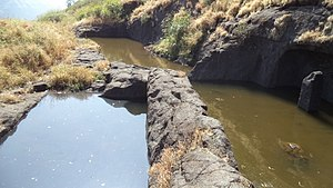 Jivdhan - Rock cut cisterns on the fort