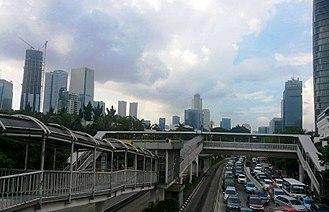 Golden Triangle of Jakarta - Image: Jl Rasuna Said 2