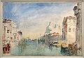 Jmw turner, venezia, veduta del canal grande verso palazzo corner della ca' grande e santa maria della salute, 1840.jpg