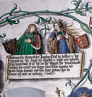 Joan of Acre - Joan with her betrothed Hartman of Germany.