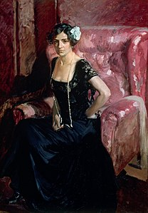Joaquín Sorolla y Bastida - Clotilde in evening dress - Google Art Project.jpg