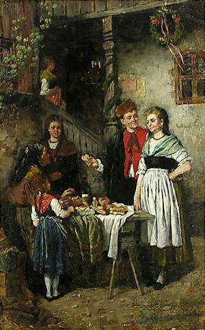 Johann Sperl - Johann Sperl: Das Fest vor dem Haus