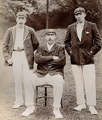 William Gunn (cricketer) - Image: John, Billy and George Gunn c 1904