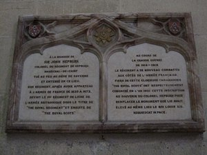 John Hepburn (soldier) - Sir John Hepburn's plaque, Toul Cathedral