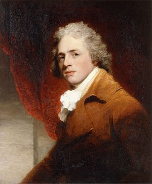 Richard Brinsley Sheridan -  Portrait of a Gentleman, traditionally identified as Richard Brinsley Sheridan, by John Hoppner